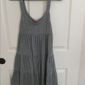 Pink/ VS gray flowy dress. size small
